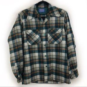 Pendleton 1960s Wool Plaid Shirt